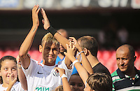 SAO PAULO, SP, 03 MARÇO 2013 - CAMP. PAULISTA - SANTOS X CORINTHIANS - Neymar do Santos em partida conttra o Corinthians válida pelo Campeonato Paulista 2013 no Estádio do Morumbi em São Paulo (SP), neste domingo (03). (FOTO: WILLIAM VOLCOV / BRAZIL PHOTO PRESS).