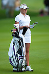 CHON BURI, THAILAND - FEBRUARY 19:  Natalie Gulbis of USA stands next to her golf bag on the 1st hole during day three of the LPGA Thailand at Siam Country Club on February 19, 2011 in Chon Buri, Thailand.  Photo by Victor Fraile / The Power of Sport Images