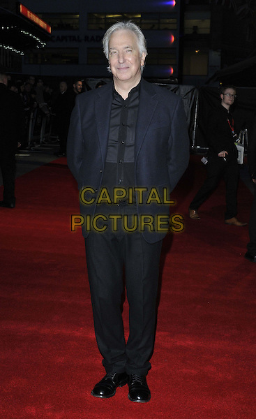 LONDON, ENGLAND - OCTOBER 17: Alan Rickman attends the &quot;A Little Chaos&quot; Love gala screening, 58th LFF day 10, Odeon West End cinema, Leicester Square, on Friday October 17, 2014 in London, England, UK. <br /> CAP/CAN<br /> &copy;Can Nguyen/Capital Pictures