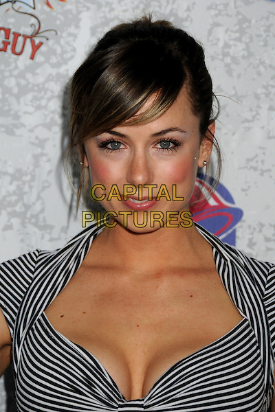 ILIZA SHLESINGER.Comedy Central Roast of Larry The Cable Guy at the Warner Brothers Studios, Burbank, California, USA..March 1st, 2009.headshot portrait cleavage black striped stripes white .CAP/ADM/BP.©Byron Purvis/AdMedia/Capital Pictures.