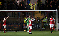 Fleetwood Town players react after Oxford United scored their equalising goal to make the score 2 - 2<br /> <br /> Photographer Rich Linley/CameraSport<br /> <br /> The EFL Sky Bet League One - Fleetwood Town v Oxford United - Saturday 12th January 2019 - Highbury Stadium - Fleetwood<br /> <br /> World Copyright &copy; 2019 CameraSport. All rights reserved. 43 Linden Ave. Countesthorpe. Leicester. England. LE8 5PG - Tel: +44 (0) 116 277 4147 - admin@camerasport.com - www.camerasport.com