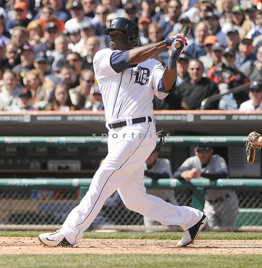 Detroit Tigers Torii Hunter (48)  during a game against the New York Yankees on April 5, 2013 at Comerica Park in Detroit, MI. The Tigers beat the Yankees 8-3.
