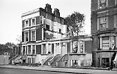 1975:  Partly demolished Victorian terraced housing in Walterton Road, after the eviction of squatters from several houses in that street and neighbouring Elgin Avenue.