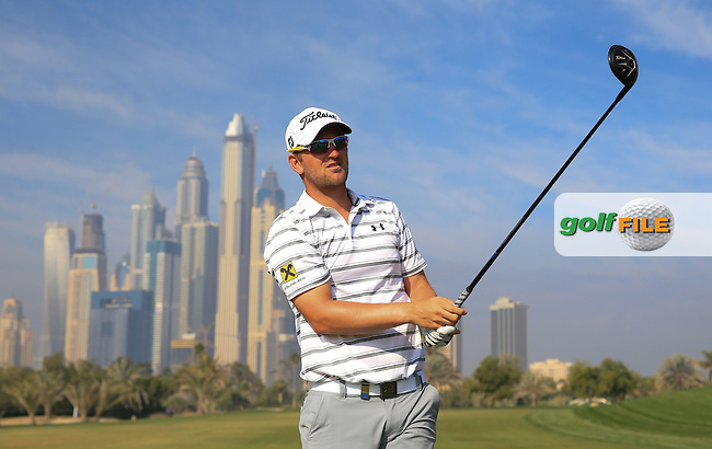 Bernd Wiesberger (AUT) during the Pro-Am at the 2016 Omega Dubai Desert Classic, played on the Emirates Golf Club, Dubai, United Arab Emirates.  03/02/2016. Picture: Golffile | David Lloyd<br /> <br /> All photos usage must carry mandatory copyright credit (&copy; Golffile | David Lloyd)