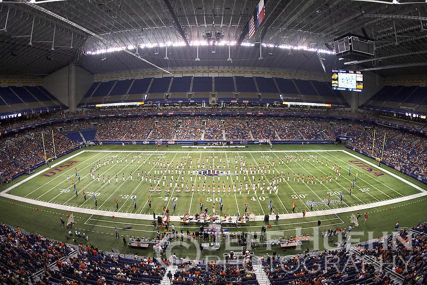 SAN ANTONIO, TX - SEPTEMBER 24, 2011: The Bacone College Warriors vs. The University of Texas at San Antonio Roadrunners Football at the Alamodome. (Photo by Jeff Huehn)