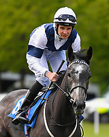 Bella Vita ridden by Charles Bishop goes down to the start  of The Byerley Stud British EBF Fillies' Handicap during Afternoon Racing at Salisbury Racecourse on 16th May 2019