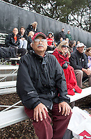 STANFORD, CA - November3, 2011: Fan during the Stanford vs. Appalachian State opener of  the  NorPac Championship at the Varsity Turf on the Stanford campus Thursday afternoon.<br /> <br /> Stanford defeated Appalachian State 7-0.