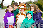 Pictured at the Harold Walk in the Desmene Killarney on Sunday were Adam Whitty, Ellie Doolan, Jack Doolan and Katie Doolan, Killarney.Picturedwith Harold the Giraffe at the Harold Walk in the Desmene Killarney on Sunday were Adam Whitty, Ellie Doolan, Jack Doolan and Katie Doolan, Killarney.