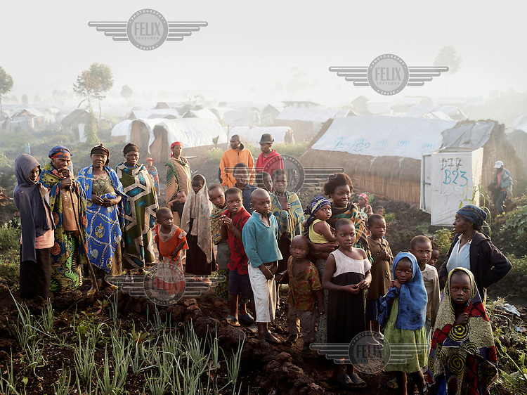 People at a UN IDP camp near Goma.