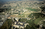 Israel, Jerusalem, Augusta Victoria hospital on Mount Scopus overlooking East Jerusalem