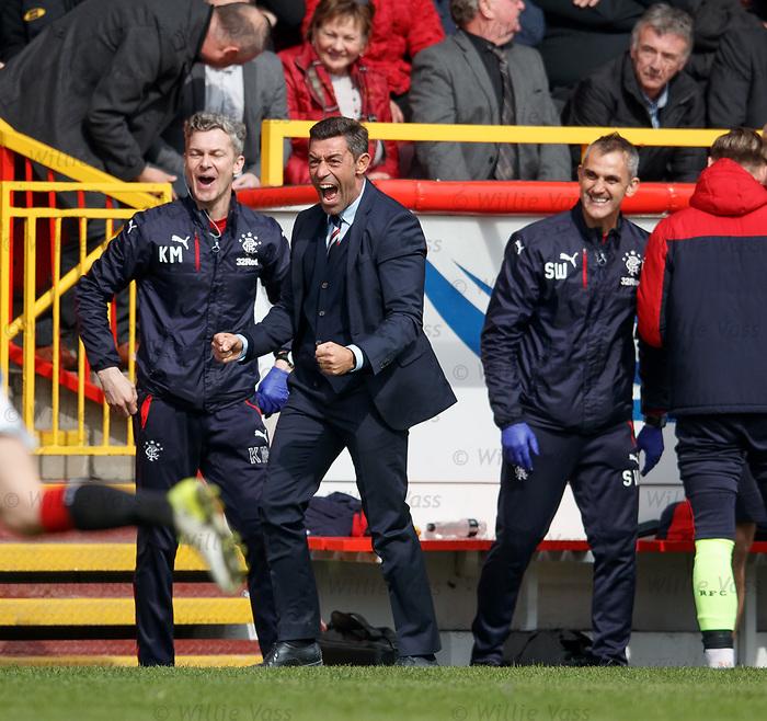 Rangers manager Pedro Caixinha celebrates as Rangers put Aberdeen to the sword