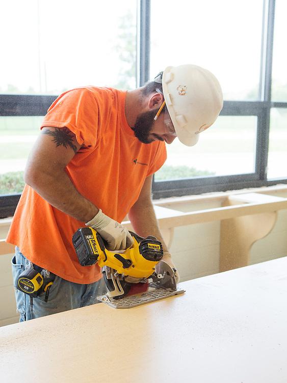 St. Paul School Casework & Drywall Job Site Photography | Corna-Kokosing