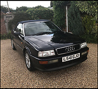 BNPS.co.uk (01202 558833)<br /> Pic: Coys/BNPS<br /> <br /> The car Princess Diana personally drove in the final years of her life has emerged for sale. <br /> <br /> The 1994 Audi Cabriolet is expected to sell for &pound;40,000 - a whopping 40 times more than it would be worth without the royal connection. <br /> <br /> Diana is said to have sought after the model having been impressed after borrowing one belonging to the wife of Viscount Linley, Princess Margaret's son. <br /> <br /> The car is being sold by auctioneers Coys of Kensington, London.