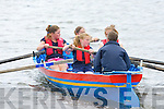 The Callinafercy u12 girls in action at the Callinafercy regatta at Ballykissane Pier on Sunday