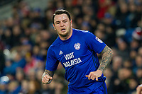 Lee Tomlin of Cardiff City during the Sky Bet Championship match between Cardiff City and Hull City at the Cardiff City Stadium, Cardiff, Wales on 16 December 2017. Photo by Mark  Hawkins / PRiME Media Images.