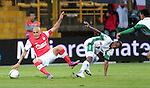 La Equidad empato en su casa  2x2 con Independiente Sata Fe en la liga postobon del futbol colombiano