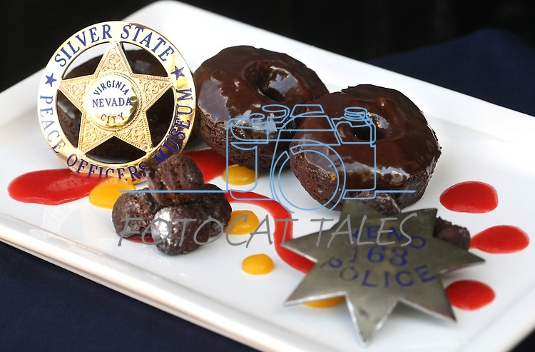 Cathleen Allison/Nevada Appeal .Brian Shaw's chocolate donuts, shot at the Silver State Peace Officers Museum in Virginia City.