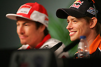 26.04.2012 SPAIN -  G.P. Bwind de España Jerez Press Conference. The picture show Casey Stoner (Australian rider Honda Team HONDA)