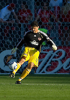 01 July 2010:  Houston Dynamo goalkeeper Pat Onstad #18 in action during a game between the Houston Dynamo and the Toronto FC at BMO Field in Toronto..Final score was 1-1....