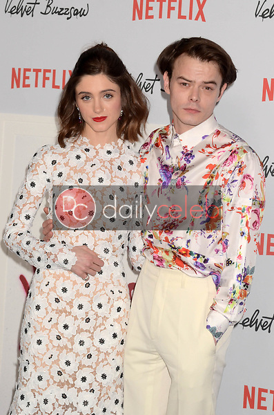 "Natalia Dyer, Charlie Heaton<br /> at the ""Velvet Buzzsaw"" Los Angeles Premiere Screening, Egyptian Theater, Hollywood, CA 01-28-19<br /> David Edwards/DailyCeleb.com 818-249-4998"