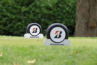 Bridgestone tee-markers during the Pro-Am of the Bridgestone Challenge 2017 at the Luton Hoo Hotel Golf &amp; Spa, Luton, Bedfordshire, England. 06/09/2017<br /> Picture: Golffile | Thos Caffrey<br /> <br /> <br /> All photo usage must carry mandatory copyright credit     (&copy; Golffile | Thos Caffrey)
