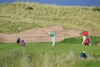 Alex Gleeson (IRL) on the 14th tee during the Afternoon Singles between Ireland and Wales at the Home Internationals at Royal Portrush Golf Club on Thursday 13th August 2015.<br /> Picture:  Thos Caffrey / www.golffile.ie