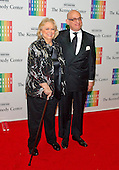 Barbara Cook and Adam Le Grant arrive for the formal Artist's Dinner honoring the recipients of the 2013 Kennedy Center Honors hosted by United States Secretary of State John F. Kerry at the U.S. Department of State in Washington, D.C. on Saturday, December 7, 2013. The 2013 honorees are: opera singer Martina Arroyo; pianist,  keyboardist, bandleader and composer Herbie Hancock; pianist, singer and songwriter Billy Joel; actress Shirley MacLaine; and musician and songwriter Carlos Santana.<br /> Credit: Ron Sachs / CNP