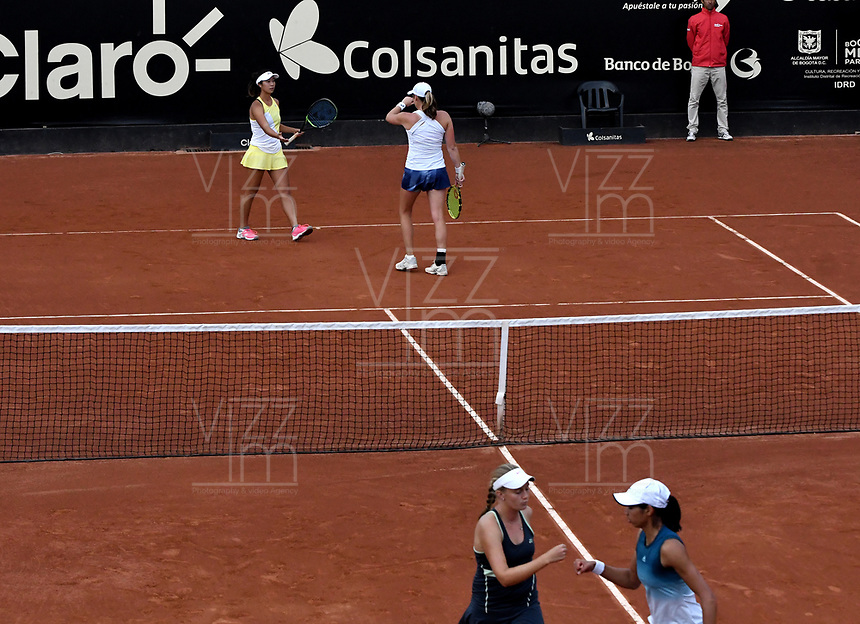 BOGOTÁ-COLOMBIA, 13-04-2019: Astra Sharma (AUS), Zoe Hives (AUS), Hayly Carter (USA) y Ena Shibahara (USA), durante partido por la final de dobles del Claro Colsanitas WTA, que se realiza en el Carmel Club en la ciudad de Bogotá. / Astra Sharma (AUS), Zoe Hives (AUS), Hayly Carter (USA) and Ena Shibahara (USA), during the match for the doubles final of Claro Colsanitas WTA, which takes place at Carmel Club in Bogota city. / Photo: VizzorImage / Luis Ramírez / Staff.