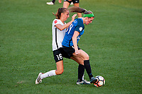 Kansas City, MO - Sunday September 3, 2017: Sarah Killion, Maegan Kelly during a regular season National Women's Soccer League (NWSL) match between FC Kansas City and Sky Blue FC at Children's Mercy Victory Field.