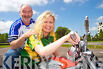 Breffni Ingerton, Chairperson Ireland Bike Fest, Killarney and Michael O'Connell, get all revved up for the Ireland Bike Fest and Kerry v Waterford game at the weekend.