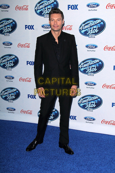 LOS ANGELES, CA - February 20: Ryan Seacrest at the American Idol XIII Finalists Party, Fig &amp; Olive, Los Angeles,  February 20, 2014. <br /> CAP/MPI/JO<br /> &copy;Janice Ogata/MediaPunch/Capital Pictures