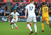 4th November 2017, Liberty Stadium, Swansea, Wales; EPL Premier League football, Swansea City versus Brighton and Hove Albion; Leroy Fer of Swansea City on the ball