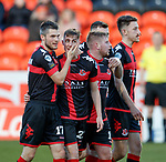 Gavin Whyte scores the winning goal for Crusaders and takes the acclaim
