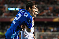 Danilo Silva and Dani Parejo at match