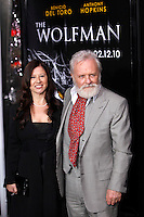 UK actor/cast member Sir Anthony Hopkins arrives with wife Stella at the US/LA premiere of 'The Wolfman' in Los Angeles, California 09 February 2010. Upon his return to his ancestral homeland, an American man (Del Toro) is bitten, and subsequently cursed by, a werewolf..Photo by Nina Prommer/Milestone Photo
