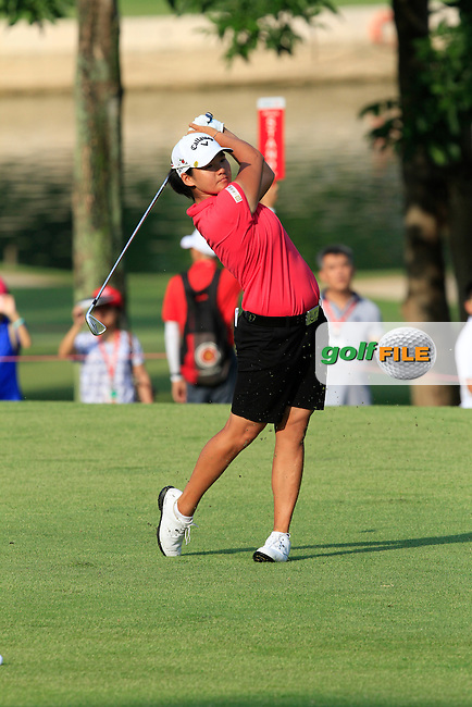 Yani Tseng (TWA) on the 1st fairway during Round 4 of the HSBC Women's Champions at the Sentosa Golf Club, The Serapong Course in Singapore on Sunday 8th March 2015.<br /> Picture:  Thos Caffrey / www.golffile.ie