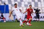 Omid Ebrahimi Zarandini of Iran (L) in action during the AFC Asian Cup UAE 2019 Group D match between Vietnam (VIE) and I.R. Iran (IRN) at Al Nahyan Stadium on 12 January 2019 in Abu Dhabi, United Arab Emirates. Photo by Marcio Rodrigo Machado / Power Sport Images