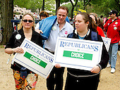 """Unidentified """"Republicans for Choice"""" at the """"March for Women's Lives"""" in Washington, DC on April 25, 2004..Credit: Ron Sachs / CNP"""