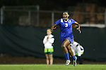 16 October 2015: Duke's Imani Dorsey reacts to scoring the game's only goal. The University of North Carolina Tar Heels hosted the Duke University Blue Devils at Fetzer Field in Chapel Hill, NC in a 2015 NCAA Division I Women's Soccer game. Duke won the game 1-0.
