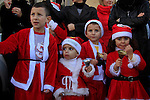 Israel, Galilee, Christmas celebrations in Nazareth, watching the procession