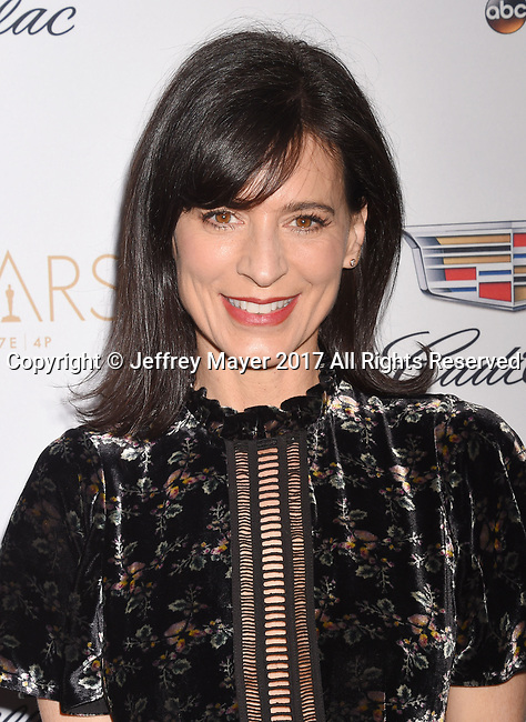 LOS ANGELES, CA - FEBRUARY 23: Actress Perrey Reeves attends Cadillac's 89th annual Academy Awards celebration at Chateau Marmont on February 23, 2017 in Los Angeles, California.