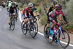 The breakaway group with Aldemar Reyes Ortega (COL) Manzana Postobon on front during Stage 11 of the 2017 La Vuelta, running 187.5km from Lorca to Observatorio Astron&oacute;mico de Calar Alto, Spain. 30th August 2017.<br /> Picture: Unipublic/&copy;photogomezsport | Cyclefile<br /> <br /> <br /> All photos usage must carry mandatory copyright credit (&copy; Cyclefile | Unipublic/&copy;photogomezsport)