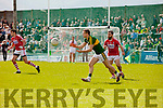 Padraig O'Connor Kerry in action against Colm O Driscoll Cork in the National Football league in Austin Stack Park, Tralee on Sunday.