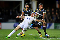 Semesa Rokoduguni of Bath Rugby takes on the Leinster Rugby defence. European Rugby Champions Cup match, between Bath Rugby and Leinster Rugby on November 21, 2015 at the Recreation Ground in Bath, England. Photo by: Patrick Khachfe / Onside Images