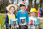 Sadbh Mannix, Louise and Padraig Kimmage Faha with their Easter Bonnets at the opening of Killarney House and gardens on Sunday