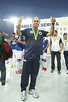 BELO HORIZONTE, MG, 01.12.2013 &ndash; CAMPEONATO BRASILEIRO 2013 &ndash; CRUZEIRO X BAHIA Marcelo Oliveira do Cruzeiro comemorando o titulo de campe&atilde;o Brasileiro 2013  partida durante jogo valido<br /> 37 &ordf; rodada Campeonato Brasileiro 2013, no est&aacute;dio Miner&atilde;o, na tarde deste Domingo (01) (Foto: Marcos Fialho / Brazil Photo Press)