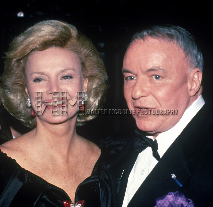 Frank Sinatra and wife, Barbara Sinatra on May 5, 1988 in New York City.