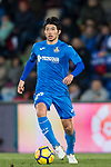 Gaku Shibasaki of Getafe CF in action  during the La Liga 2017-18 match between Getafe CF and Malaga CF at Coliseum Alfonso Perez on 12 January 2018 in Getafe, Spain. Photo by Diego Gonzalez / Power Sport Images