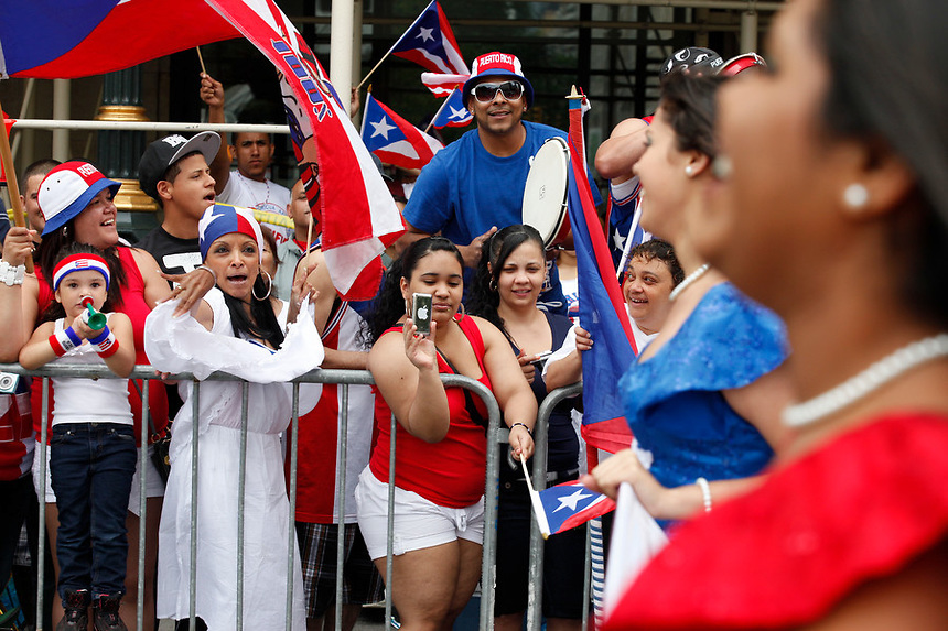The 2011 National Puerto Rican Day Parade up 5th Ave in Manhattan, NY on Sunday, June 12, 2011.