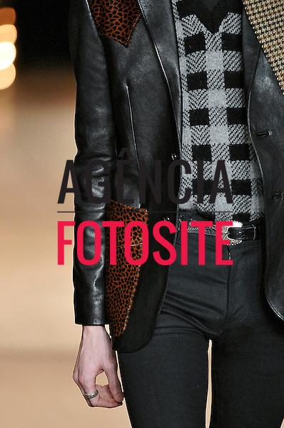 Paris, Franca &ndash; 01/2014 - Desfile de Saint Laurent durante a Semana de moda masculina de Paris - Inverno 2014. <br /> Foto: FOTOSITE